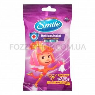 Салфетки влажные Smile Фиксики антибактериальные