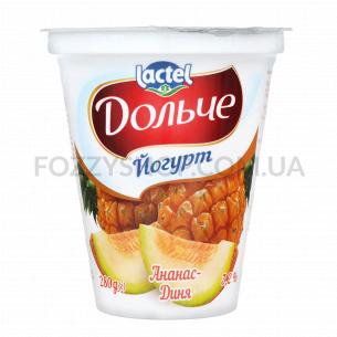 Йогурт Дольче с наполнителем ананас-дыня 3,2% ст