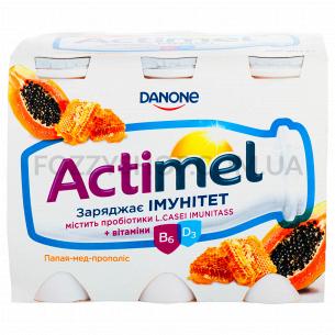 Продукт кисломол Actimel папая мед пропол 1,5% пл