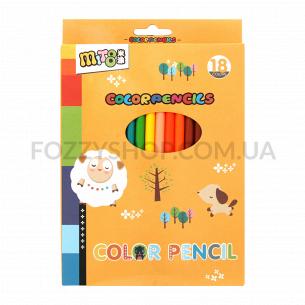 Набор карандашей цветных 18шт D-03