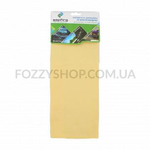 Салфетка Sapfire замшевая микроф желтая 35*40см