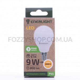 Лампа светодиодная Enerlight P45 9Вт 3000K E14