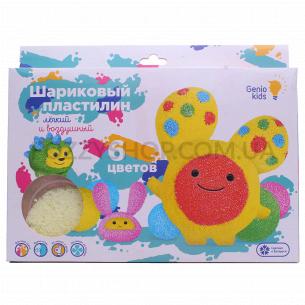 Набор для лепки Genio Kids Шариков пластилин 6 цветов