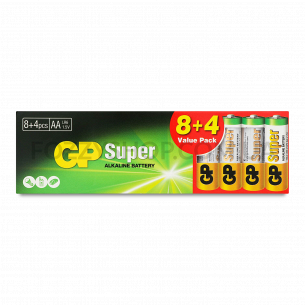 Батарейки GP 15A8/4-2UE щелочная AA LR6