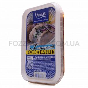 Сельдь Veladis филе-кусочки в масле с итальянскими специями