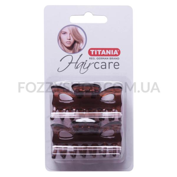 Зажим для волос Titania коричневый 6см 8020/8B
