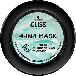 """Маска Gliss Kur Performance Treat 4-в-1 """"Увлажнение"""" для поврежденных, сухих волос 400 мл"""