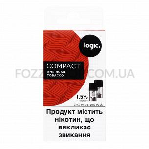 Картриджи Logic Compact American Tobacco 1,5%