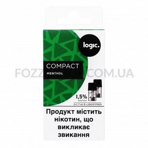 Картриджи Logic Compact Menthol 1,5%