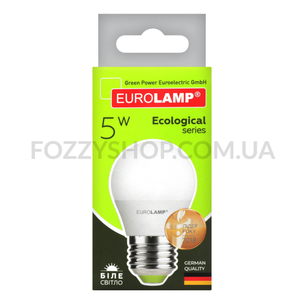 Лампа Eurolamp LED ECO P G45 5W 4000K E27