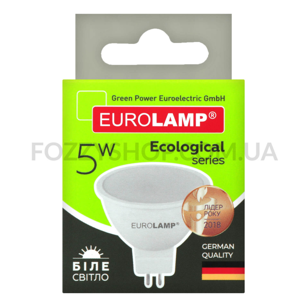 Лампа Eurolamp LED ECO P SMD MR16 5W 4000K GU5.3
