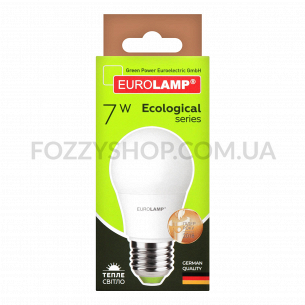 Лампа Eurolamp LED ECO P А50 7W 3000K E27
