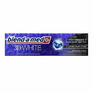 Паста зубная Blend-a-med 3D White с древесным углем