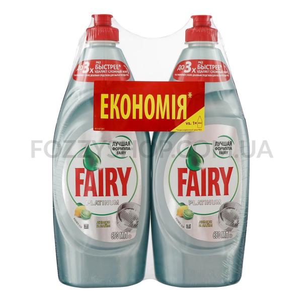 Средство для мытья посуды Fairy Platinum лимон-лайм