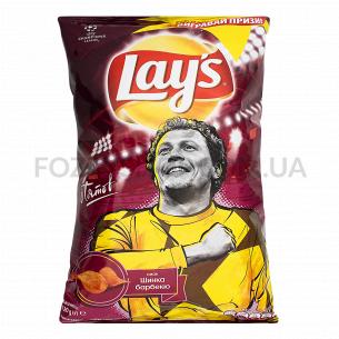 Чипсы Lay`s картофельные со вкусом ветчины барбекю