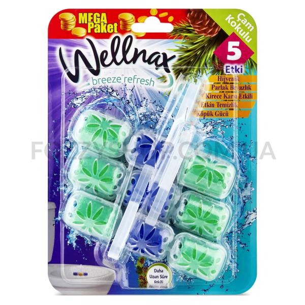 Блок для унитаза Wellnax Хвоя контейнер 3 ячеек