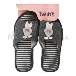 Тапки женские TwinsHS-VL Gray rabbit р.38-39