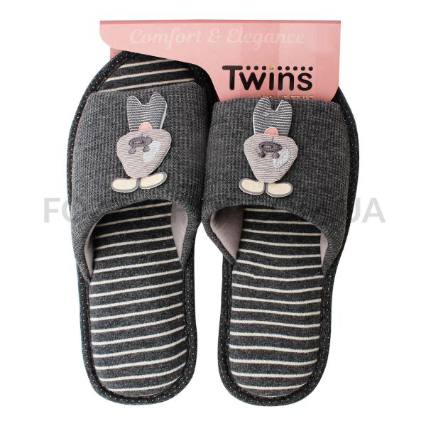 Тапки женские TwinsHS-VL Gray rabbit р.40