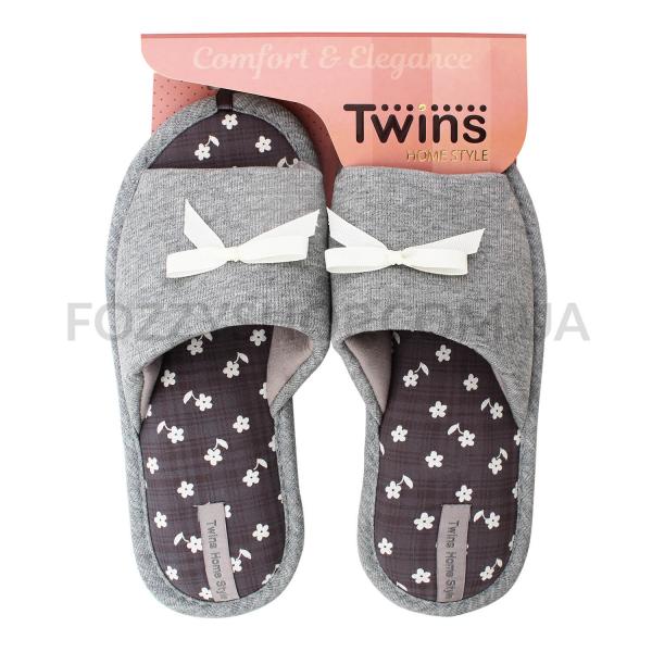 Тапки женские TwinsHS-VL gray р.36-37