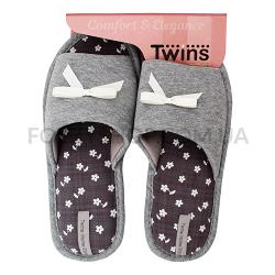 Тапки женские TwinsHS-VL gray р.38-39