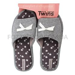 Тапки женские TwinsHS-VL gray р.40