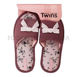 Тапки женские TwinsHS-VL purpul р.36-37