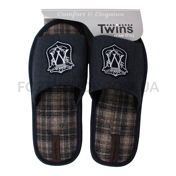 Тапки мужские Twins HS-VL герб серые р.44-45