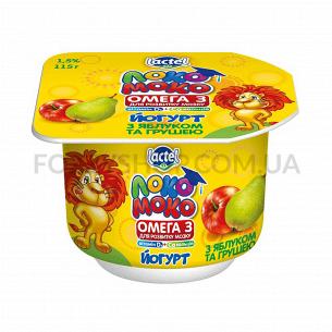 Йогурт Локо Моко яблоко-груша от 3 лет 1,5%