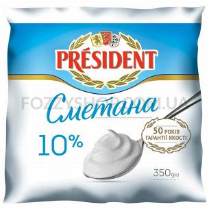 Сметана President 10% п/э