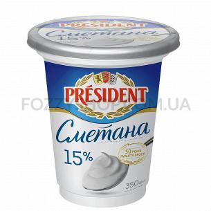 Сметана President 15% ст