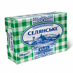 """Масло """"Селянське"""" сладкосливочное 63%"""
