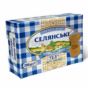 Масло сладкосливочное Селянське соленое 72,5%
