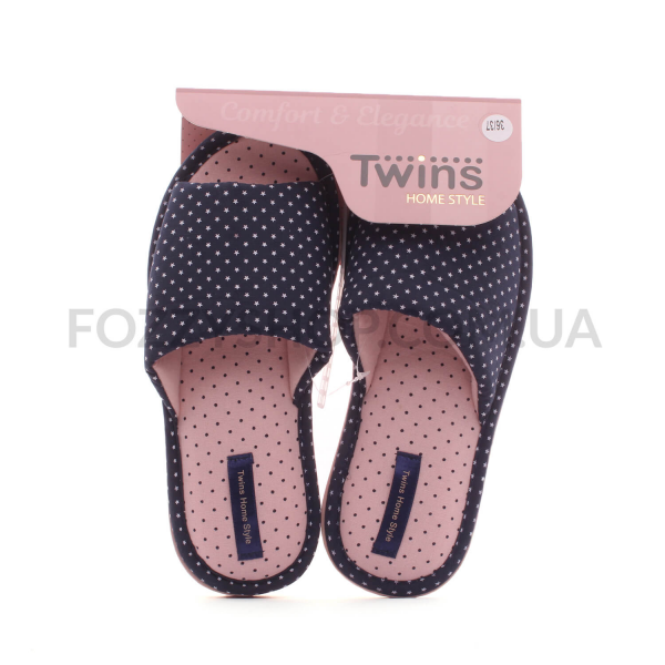 Тапки женские Twins Classiс синие р.38-39