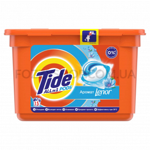 Капсулы для стирки Tide Все-в-1 Touch of Lenor Fresh, 15 шт.