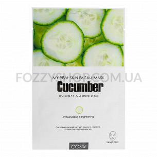 Маска для лица COS.W Cucumber тканевая