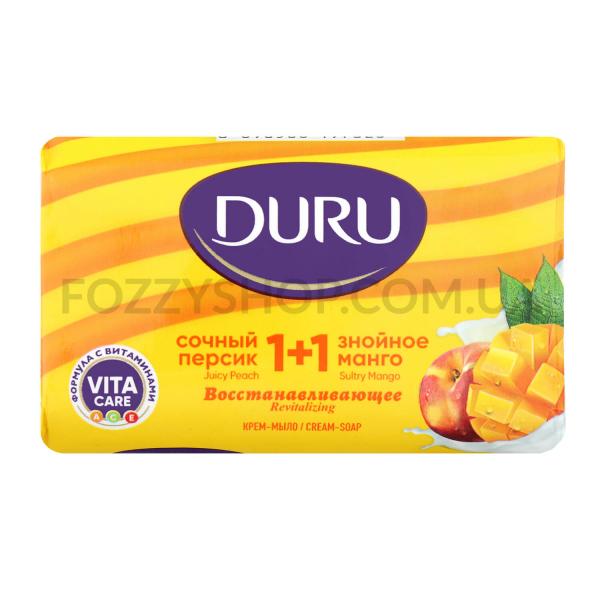 Мыло Duru 1+1 Сочный персик и знойное манго