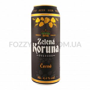 Пиво Zelena Koruna Cerne темное ж/б