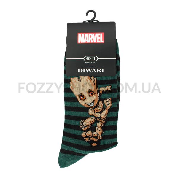 Носки мужские DiWaRi Marvel 17С140 темно-бирюзовые р.25 082