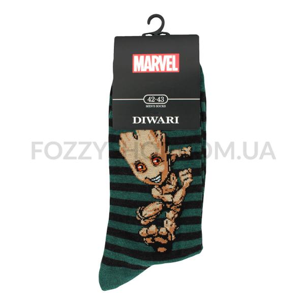 Носки мужские DiWaRi Marvel 17С140 темно-бирюзовые р.27 082