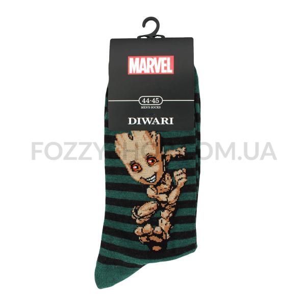 Носки мужские DiWaRi Marvel 17С140 темно-бирюзовые р.29 082