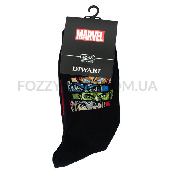 Носки мужские DiWaRi Marvel 17С140 темно-синие р.27 117