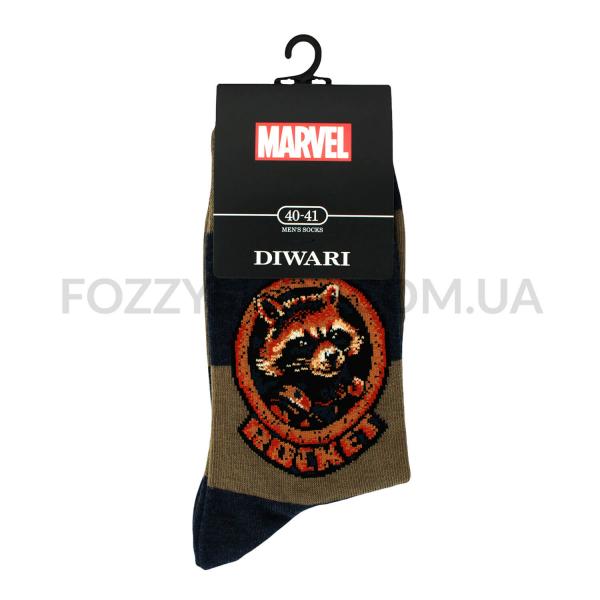 Носки мужские DiWaRi Marvel 17С140 хаки р.25 118