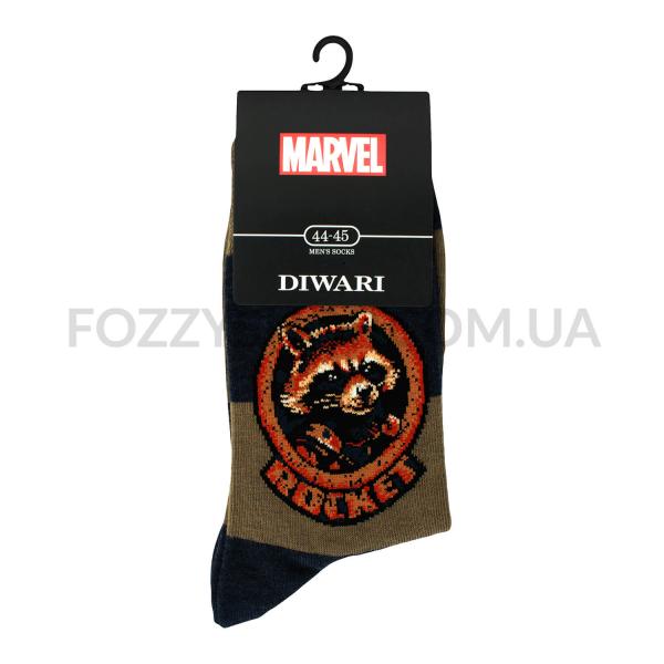 Носки мужские DiWaRi Marvel 17С140 хаки р.29 118