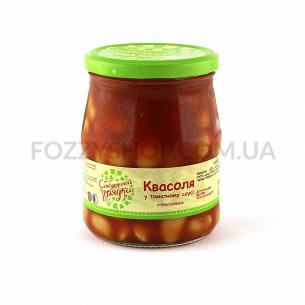 Фасоль С бабушкиной грядки в томатном соусе с/б