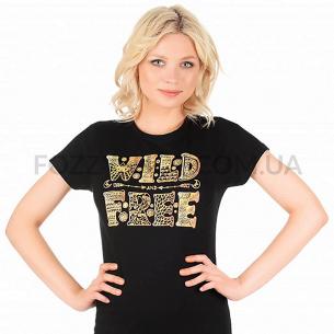 Футболка Miss 150 Wild Free р-р S, черный-насыщенный