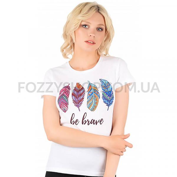 Футболка Miss 150 Feathers р-р XXL, белый