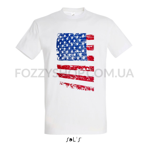 Футболка Imperial 190 AMERICAN FLAG р-р S, белый