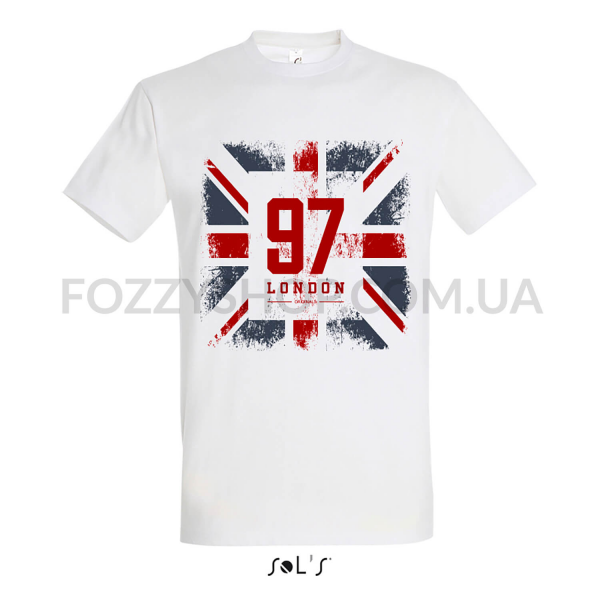 Футболка Imperial 190 GREAT BRITAIN FLAG 97 р-р L, белый