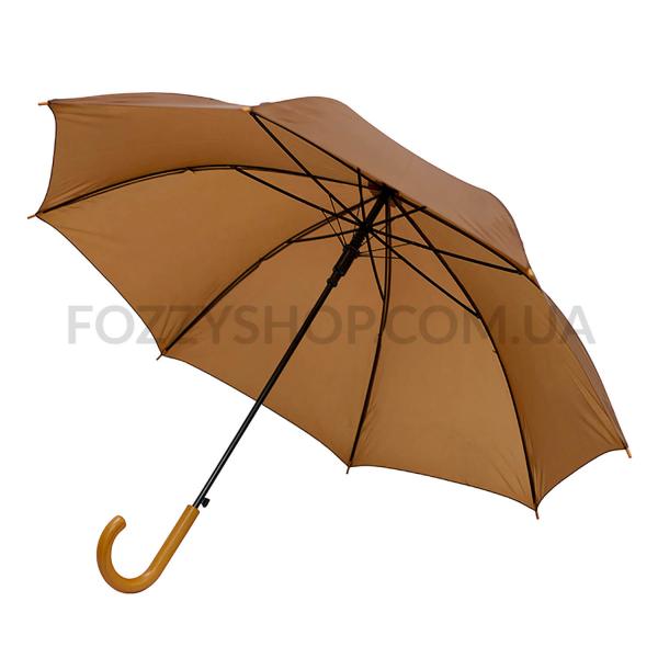 Зонт-трость, коричневий