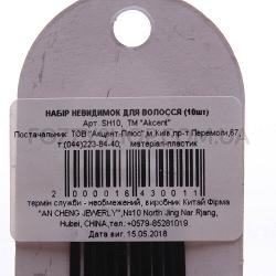 Набор невидимок для волос Akcent Классик, 10 шт. SH10